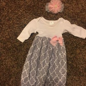 Other - Newborn gown and headband